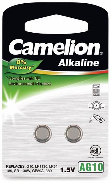 Knopfzelle Camelion AG10, 2 St.
