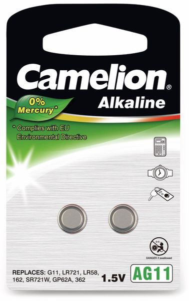 Knopfzelle Camelion AG11, 2 St.