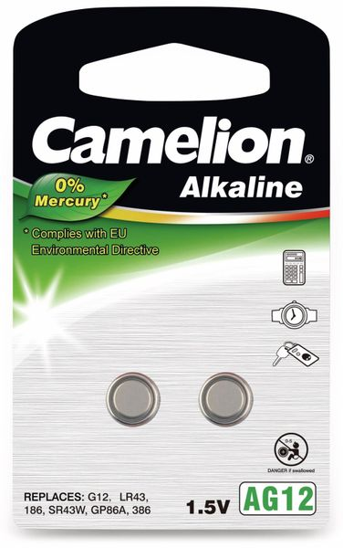 Knopfzelle Camelion AG12, 2 St.