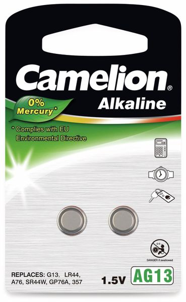 Knopfzelle Camelion AG13, 2 St.