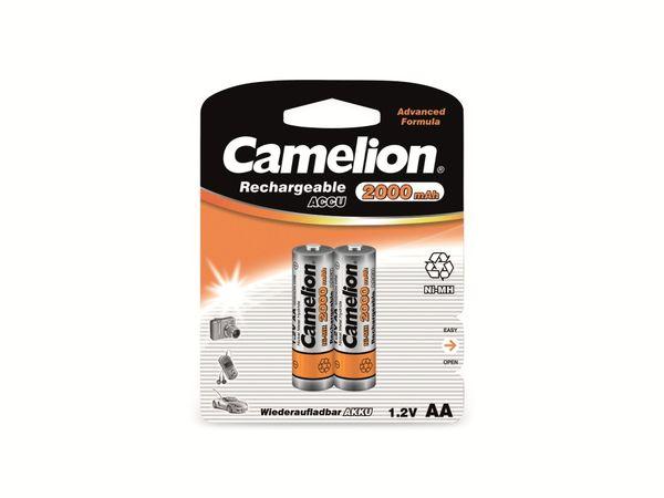 Mignon-Akku, NiMH, 2000mAh Camelion 2 Stück