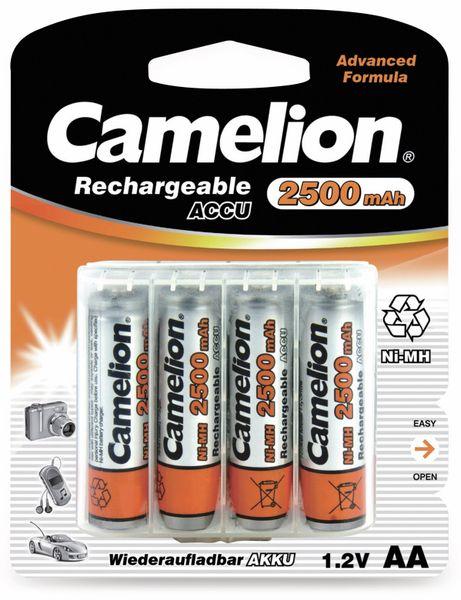 NiMH-Mignon-Akku CAMELION, 2500 mAh, 4 Stück, mit Batterienbox