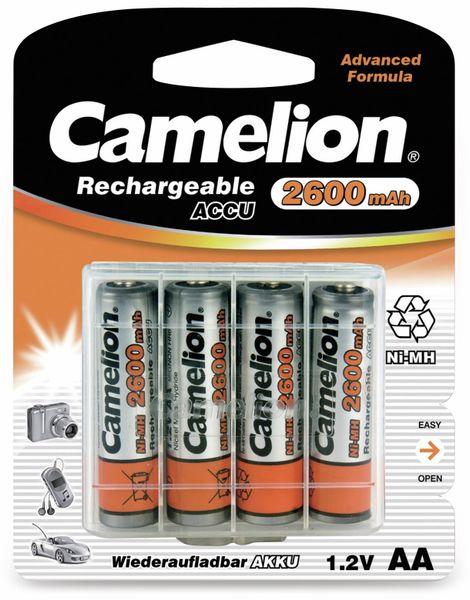 Mignon-Akku, NiMH, 2600mAh Camelion 4 Stück,inkl. Aufbewahrungsbox für 4 St