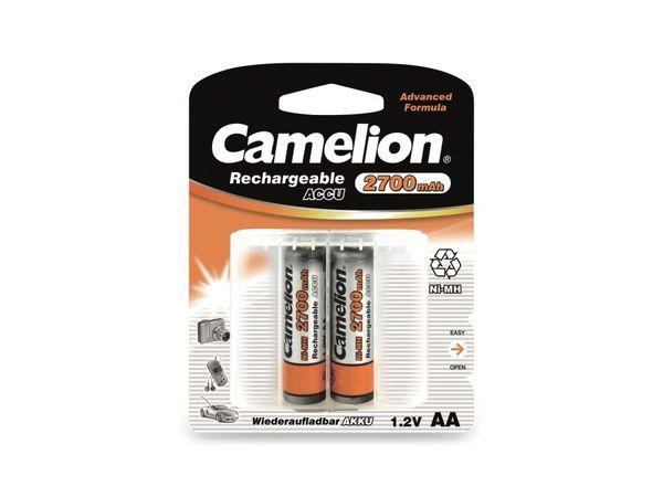 Mignon-Akku, NiMH, 2700mAh Camelion 2 Stück,inkl. Aufbewahrungsbox für 4 St