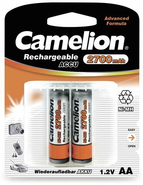 NiMH-Mignon-Akku CAMELION, 2700 mAh, 2 Stück ,mit Batterienbox