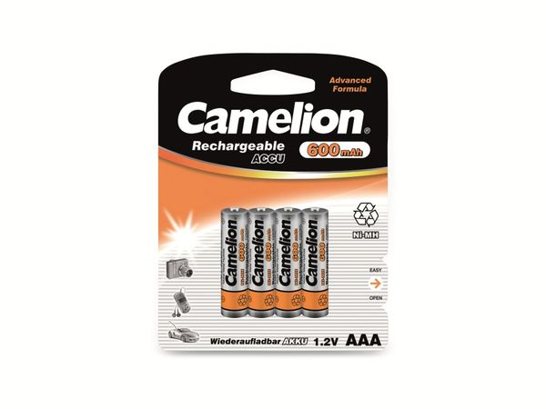Micro-Akku, NiMH, 600mAh Camelion 4 Stück