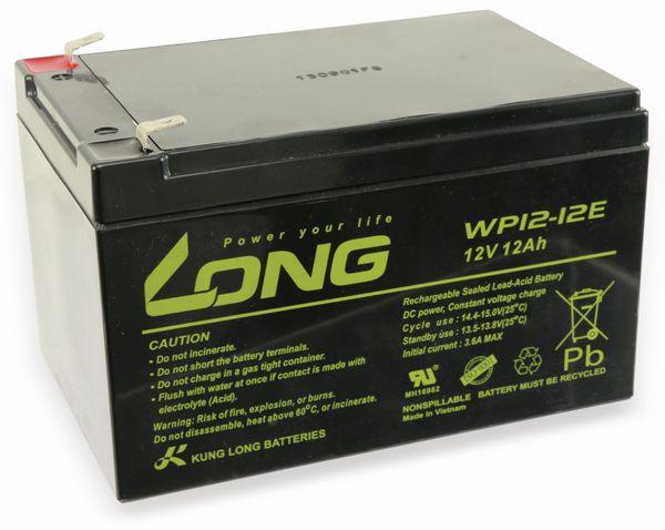 Blei-Akkumulator KUNG LONG WP12-12E, 12 V-/12 Ah, zyklenfest