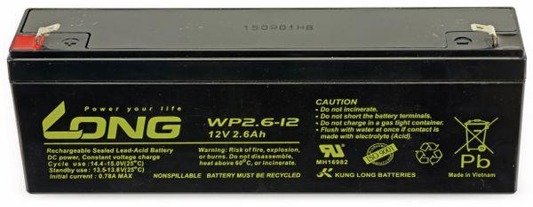 Blei-Akkumulator KUNG LONG WP2.6-12, 12 V-/2,6 Ah, zyklenfest