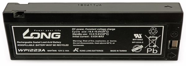 Blei-Akkumulator KUNG LONG WP1223W, 12 V-/2,1 Ah, zyklenfest