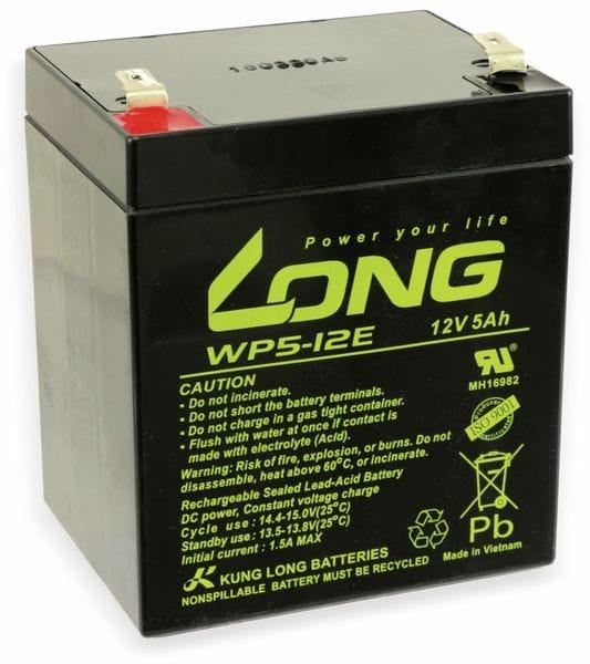 Blei-Akkumulator KUNG LONG WP5-12E, 12 V-/5 Ah, zyklenfest