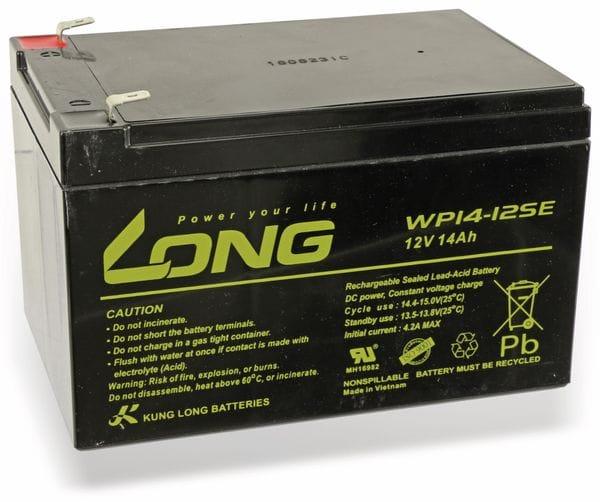 Blei-Akkumulator KUNG LONG WP14-12SE, 12 V-/14 Ah, zyklenfest