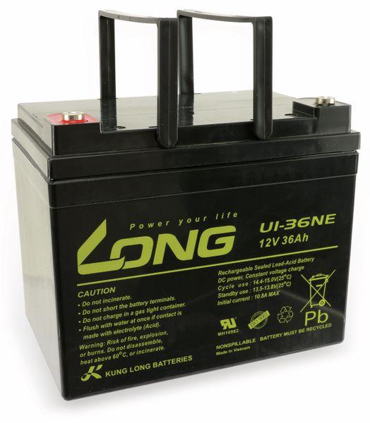 Blei-Akkumulator KUNG LONG U1-36NE, 12 V-/36 Ah, zyklenfest - Produktbild 2