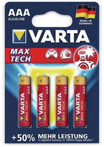 Micro-Batterie, VARTA, LONGLIFE, Max Power, 4St.