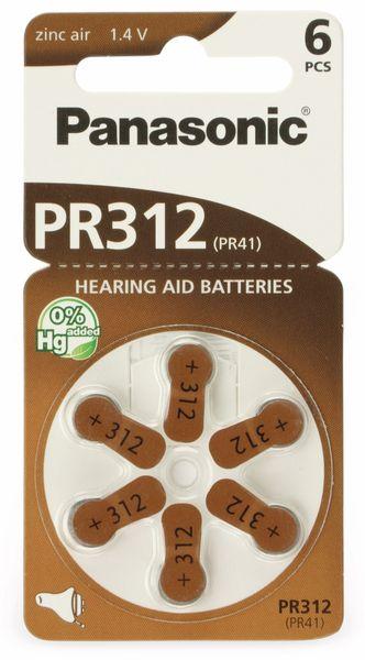 Hörgeräte-Batterien PANASONIC PR312