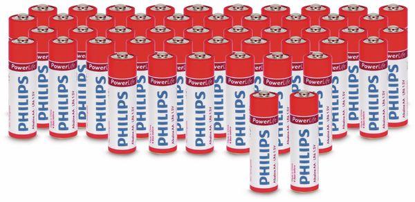 Mignon-Batterieset PHILIPS PowerLife Alkaline, 48 Stück