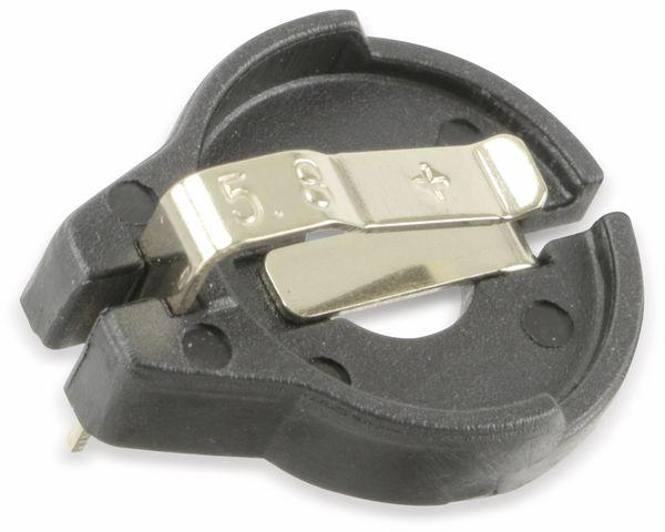 Batteriehalter MPD BH600-G-5.8, CR1620/1632, vergoldet - Produktbild 1