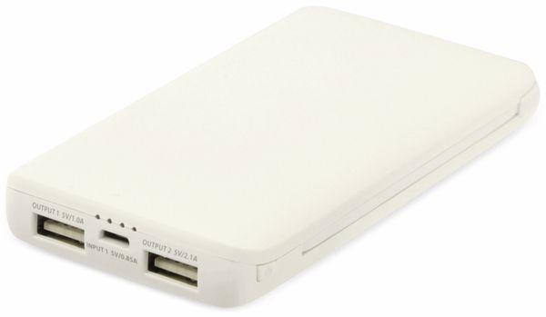 Powerbank K50-WS, 5000 mAh, weiß - Produktbild 1