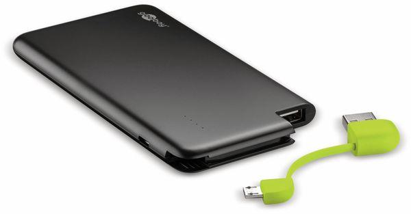 USB Slim Powerbank GOOBAY 64558, 4.000 mAh, schwarz - Produktbild 1