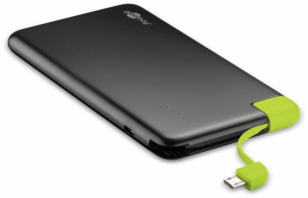 USB Slim Powerbank GOOBAY 64558, 4.000 mAh, schwarz - Produktbild 2