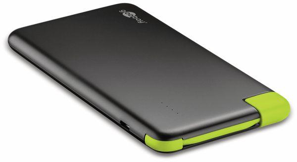 USB Slim Powerbank GOOBAY 64558, 4.000 mAh, schwarz - Produktbild 3