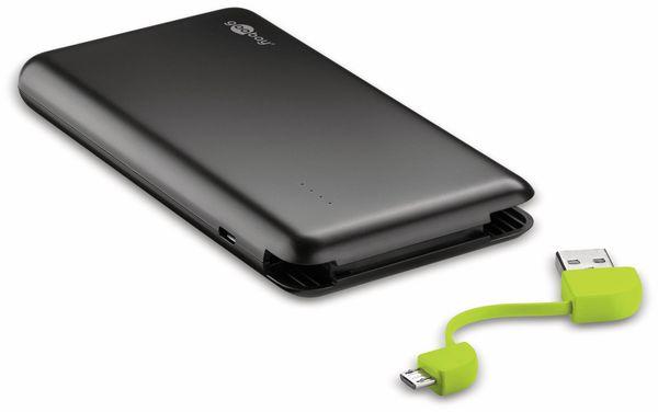 USB Slim Powerbank GOOBAY 64559, 8.000 mAh, schwarz - Produktbild 1