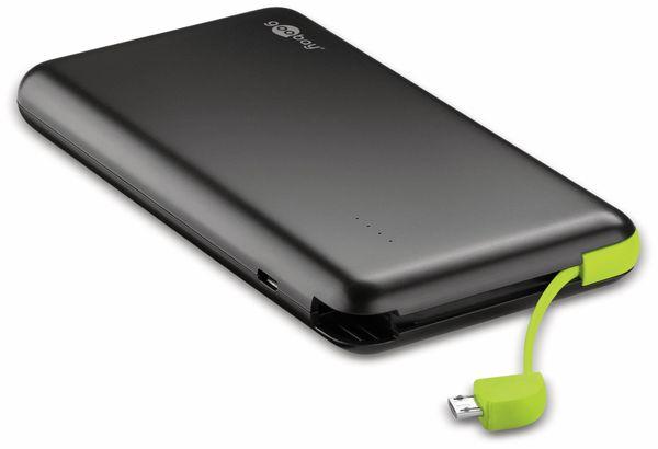 USB Slim Powerbank GOOBAY 64559, 8.000 mAh, schwarz - Produktbild 2