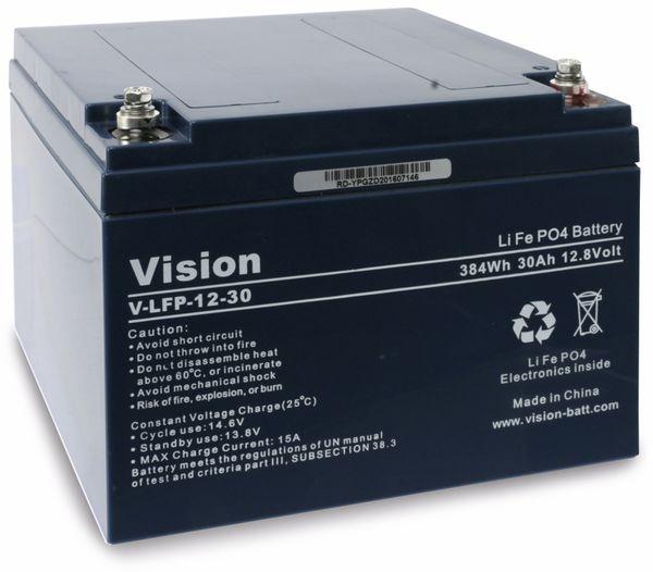 LiFePO4 Akku VISION LFP1230, 12V-/30 Ah