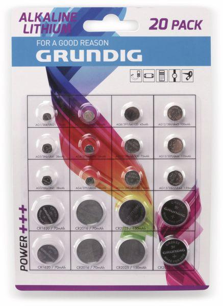 Knopfzellen-Set, GRUNDIG, 20 Stück
