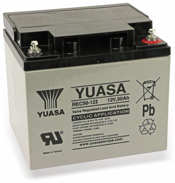 Blei-Akkumulator YUASA REC50-12, 12 V-/50 Ah - Produktbild 1