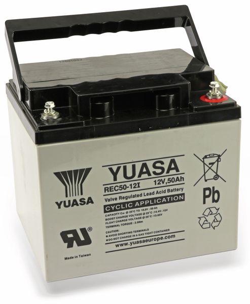 Blei-Akkumulator YUASA REC50-12, 12 V-/50 Ah - Produktbild 2