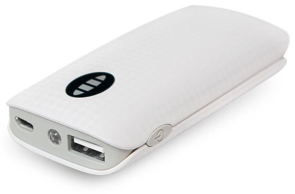 USB Powerbank LogiLink, 4000 mA, 1x USB-Port, weiß - Produktbild 1