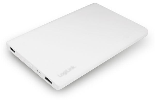 USB Powerbank LogiLink, 12000 mA, 2x USB-Port, weiß