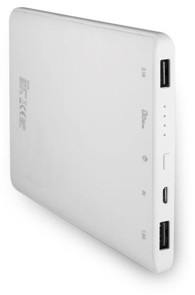 USB Powerbank LogiLink, 12000 mA, 2x USB-Port, weiß - Produktbild 2
