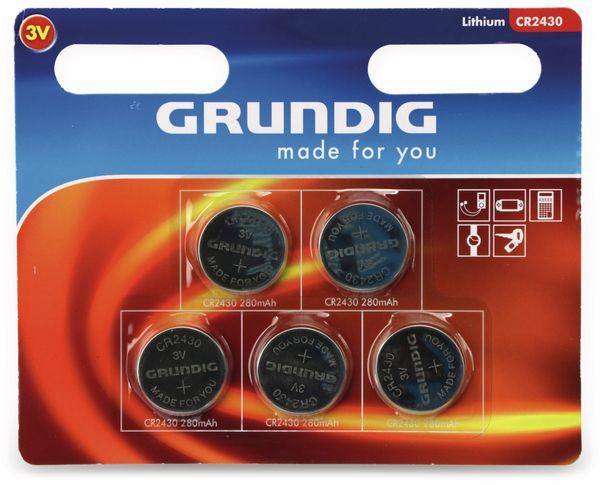 Lithium-Knopfzelle GRUNDIG, CR2430, 5 Stück