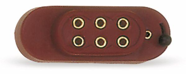 Batteriekappe mit Schalter für 4,5 V Flachbatterie