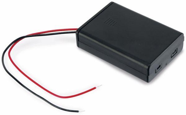Batteriehalter, 3 x Micro AAA, geschlossen, 15 cm Anschlusskabel - Produktbild 2
