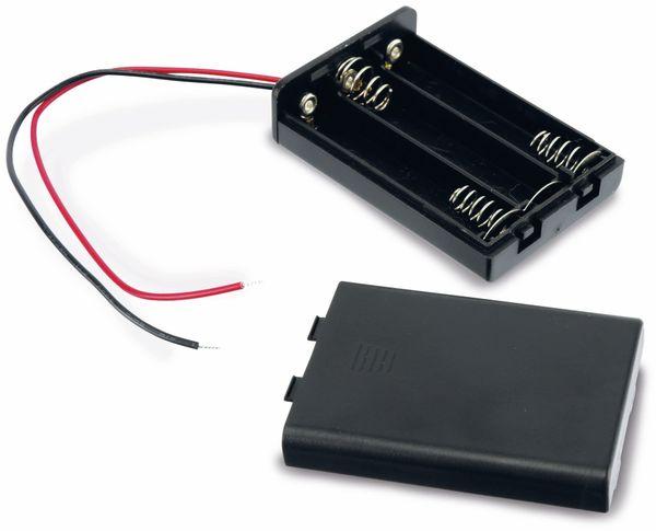Batteriehalter, 3 x Micro AAA, geschlossen, 15 cm Anschlusskabel - Produktbild 3