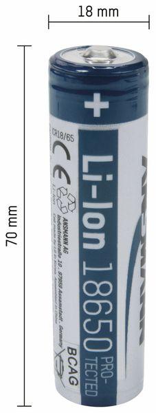 LiIon-Akku, ANSMANN, 1307-0000, 18650, 3,7 V-/2600 mAh - Produktbild 2