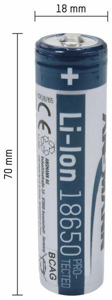 LiIon-Akku, ANSMANN, 1307-0001, 18650, 1S1P, 3,7 V/3500 mAh - Produktbild 2