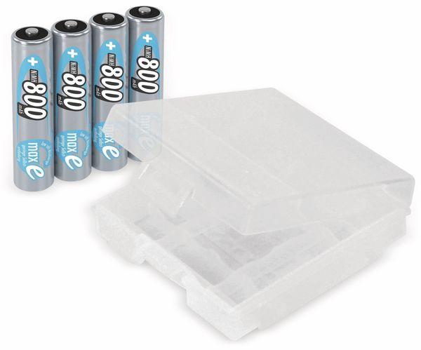 NiMH-Micro-Akku ANSMANN maxE, 800 mAh, 4 Stück, mit Batterienbox