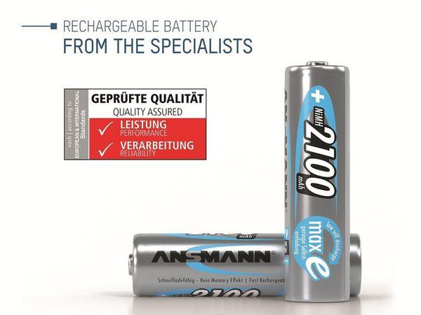 Mignon-Akku, ANSMANN maxE, NiMH, 2100mAh, 4 Stück, mit Batteriebox - Produktbild 2