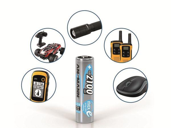Mignon-Akku, ANSMANN maxE, NiMH, 2100mAh, 4 Stück, mit Batteriebox - Produktbild 3