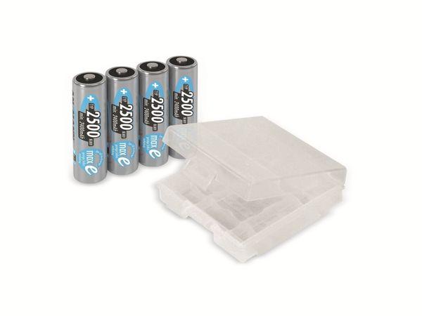 Mignon-Akku, ANSMANN maxE, NiMH, 2500mAh, 4 Stück, mit Batteriebox