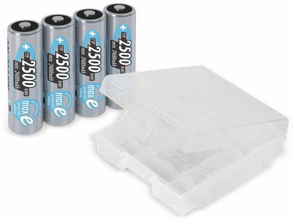 NiMH-Mignon-Akku, ANSMANN maxE, 2500 mAh, 4 Stück, mit Batterienbox