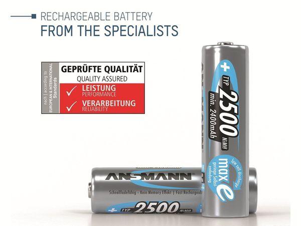 Mignon-Akku, ANSMANN maxE, NiMH, 2500mAh, 4 Stück, mit Batteriebox - Produktbild 2