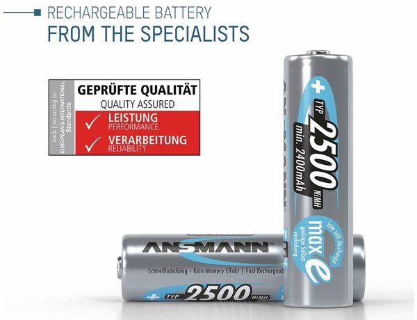 NiMH-Mignon-Akku, ANSMANN maxE, 2500 mAh, 4 Stück, mit Batterienbox - Produktbild 2