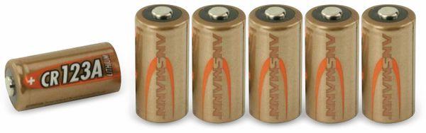 Lithium-Batterie, ANSMANN, CR123A, 6 Stück