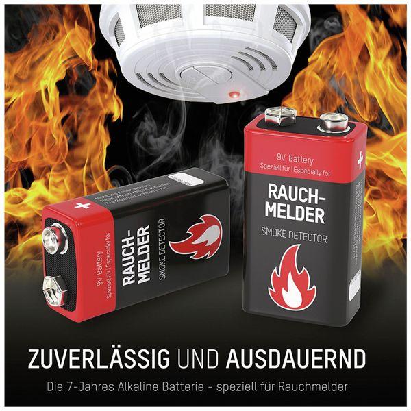 9V-Blockbatterie, ANSMANN Alkali, 550mAh, 2 Stück, für Rauchmelder - Produktbild 2