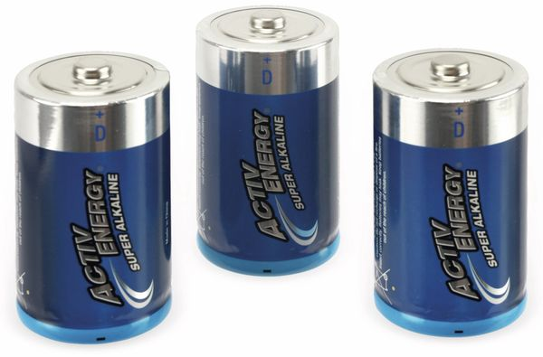 Mono-Batterie ACTIV ENERGY, LR20, 3 Stück