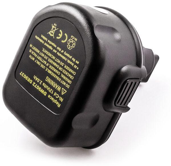 Werkzeugakku, für Dewalt, Black & Decker, 12 V/2 Ah, NiMh,